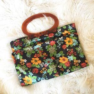 Hippie Psychedelic Folding Handbag Clutch Purse